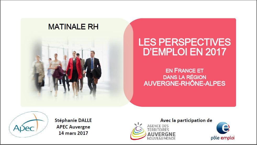 Dossier Apec Les Perspectives D Emploi En 2017 Groupe Esc